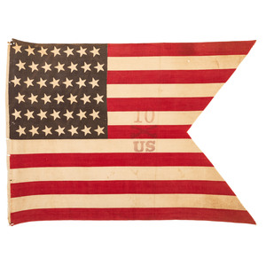 Rare 10th Cavalry Guidon, circa 1889