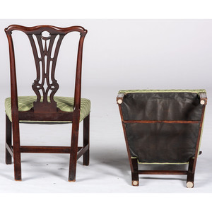 A Pair of New England Chippendale Mahogany Side Chairs