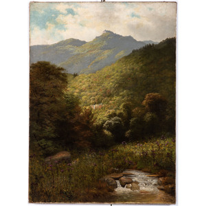 A Mountain Landscape, Possibly Scottish