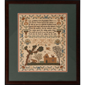 A Pictorial Schoolgirl Needlework Sampler