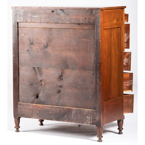 A Sheraton Transitional Cherry Chest of Drawers