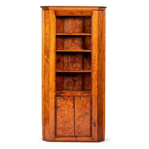 An Open Corner Cupboard in Pine