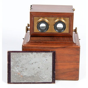 Smith, Beck & Beck Achromatic Stereoscope with Walnut Storing Box, 1859