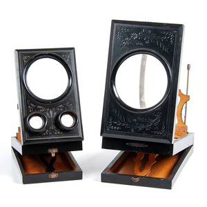 Lovely Pair of Black Lacquered Stereoviewers