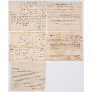 Group of Legal Documents from Central Ohio, First Quarter 19th Century
