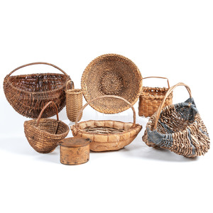 A Group of American Woven Baskets