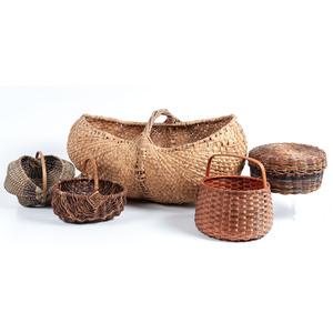 Five American Woven Baskets