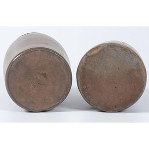 Two Hamilton & Co. Cobalt-Decorated Stoneware Vessels