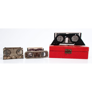 German Stereoscopes Including Cecilie Pocket Stereoscope and Deutschland im Raumbild Stereoscope with Cards, Plus