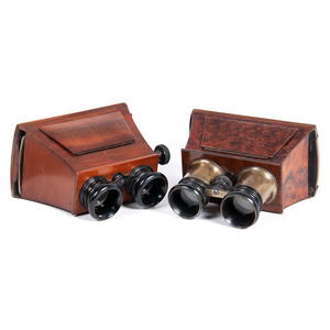 Lot of 2 Wooden Brewster-Style Stereoscopes