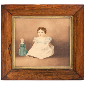 An American Portrait of a Girl with Doll