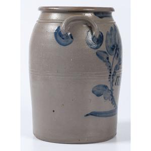 An Exuberantly Cobalt-Decorated Three Gallon Pennsylvania Stoneware Jar