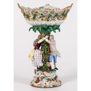 A Meissen Porcelain Figural Centerpiece
