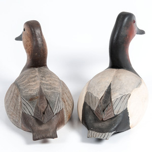 A Pair of L.T. Ward Canvasback Decoys