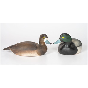 A Pair of Lem & Steve Ward Black Head Decoys