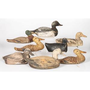 Eight Working Duck Decoys