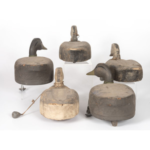 Five Large Working Duck Decoys