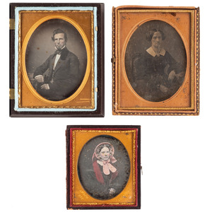 Daguerreotypes by Gurney and Anson, Lot of 3