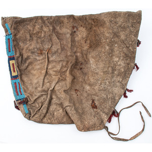 Sioux Beaded and Quilled Buffalo Hide Possible Bag, From an Estate in Sinking Springs, Ohio