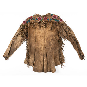 Northern Plains Beaded Hide Shirt, From an Estate in Sinking Springs, Ohio