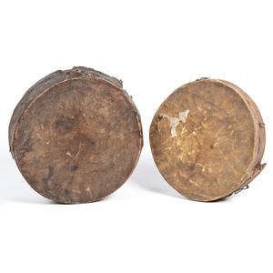 Plains Hide Drums, From an Estate in Sinking Springs, Ohio