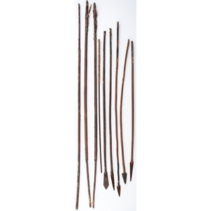 Collection of Plains and Southwest Arrows, From an Estate in Sinking Springs, Ohio
