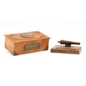 USS Constitution Wood Relics, Incl. Commemorative Box