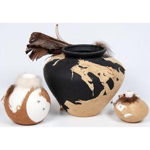Lisa Ray (Algonquin, 20th century) Multi-Media Pottery