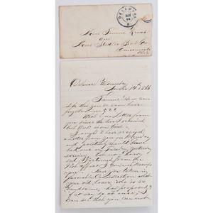 Kraus-Frank Letter Group, 1866-1868, Incl. 1866 Description of Visit to Cincinnati, Ohio