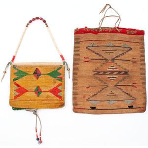 Nez Perce Corn Husk Purse and Flat Bag