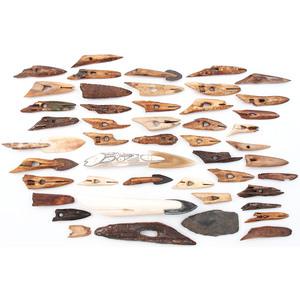 Alaskan Eskimo Fossilized Ivory Harpoon Points