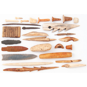 Alaskan Eskimo Assorted Tools and Implements