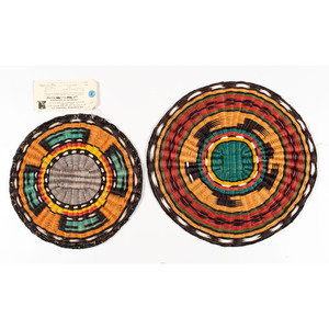 Joan Monongye (Hopi, 20th century) Third Mesa Wicker Basket, PLUS