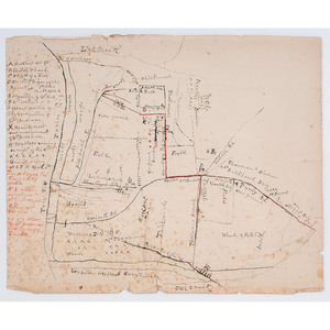 Hand-Drawn Map of Shiloh Battlefield, Possibly Drawn by Civil War Veteran