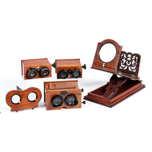 Four European Stereoscopes, Incl. Rowsell's Graphoscope, England