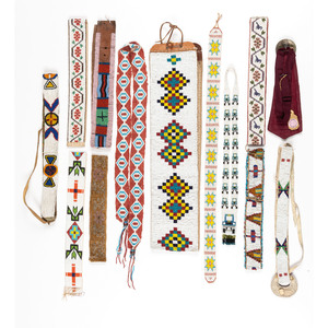 Collection of Beaded Belts and Ties