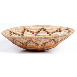 Lucy Atene (Dine, 20th century) Polychrome Basket