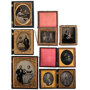 Daguerreotype, Ambrotype, and Tintype Portraits of Couples and Family Groups