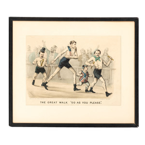 Two Currier & Ives hand-Colored Lithographs from The Great Walk Series