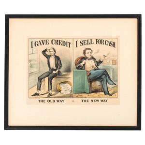 Two Currier & Ives Hand-Colored Lithographs