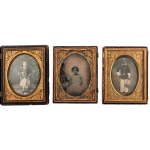Endearing Daguerreotype and Ambrotype Portraits of Children, Lot of 7