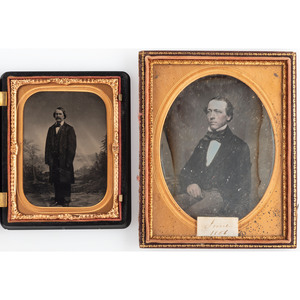 Daguerreotype and Ambrotype Portraits of Gentlemen, Lot of 11