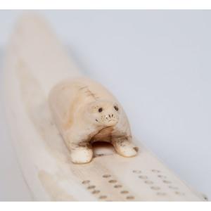 Alaskan Eskimo Carved Cribbage Board, PLUS