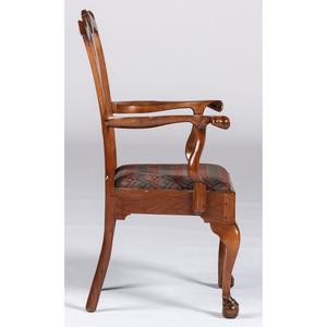 A Fine Philadelphia Chippendale Walnut Open Armchair