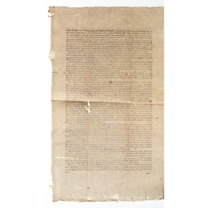 Revolutionary War Broadside Calling for Troops from Massachusetts