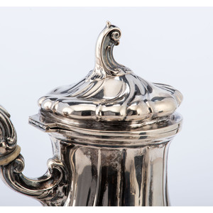 A Six-Piece Continental Silver Coffee Service