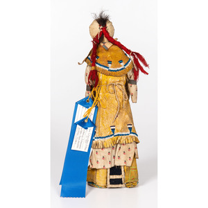 Cheyenne Beaded Cloth and Hide Doll