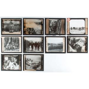 Lot of 50+ World War I Glass Slides
