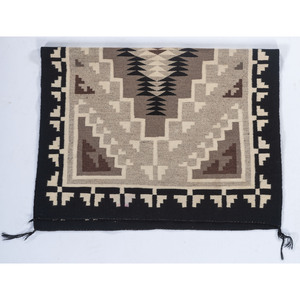 Ester Tsosie (Dine, 20th century) Attributed, Two Grey Hills Weaving / Rug