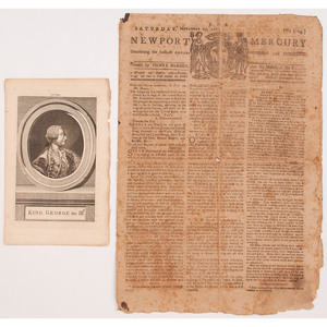 Group of Five Revolutionary War-Era Newspapers, Including The Boston Evening-Post Single Issue Dated July 5, 1773, Plus